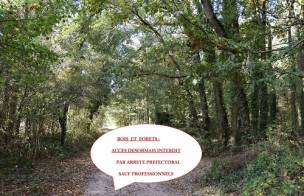 Accès aux bords de rivières, bois, forêts interdits